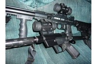 bkl 2-pc - Adapter used to mount leapers optics to SMG22 machine gun and a custom Charter Arms AR-7 .22cal rifle