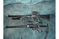 Leapers Golden Image sight - Leapers sight mounted on SMG22 machine gun and on custom Charter Arms AR-7 .22cal rifle