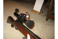 Centerpoint 4-16x40 AOIR on Beeman RS2 Dual Caliber - Scope is a great combo with my beeman RS2.  Very easy to sight in.  Stays sighted in very well.  Shown with UTG Adapter plate and CenterPoint Flashlight/laser combo.
