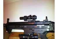 SCAR17S + Bushnell red dot sight - Co-witnessed on my SCAR17.