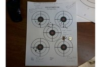 You will shoot your eye out at 20 Yards - H&N Field Target Trophy shot at 20 yards from RWS 350 Magnum using shooting sticks.  10 shot group just a little larger than your eye.  Groups from 4 other pellets included for compairson.