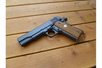 Tangolgio 1911 enhanced - Genuine Colt wood grips with emblems.