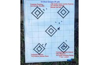 Quarter sized Groups at 25yds - Excellant groups at 25yds with the right pellets, Crosman Premier Domed Ultra Magnum 14.3 grain Hunting Pellets. These shoot best for me.