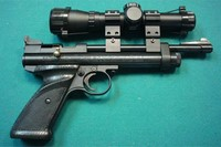 2240 Right Side - Crosman 2240 Right Side with BSA Edge 2X20 Pistol Scope