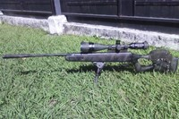 Camo Benjamin Titan - i had this rifle over a year and it is very powerful and precise, i really recomend this for some intermediate shooters