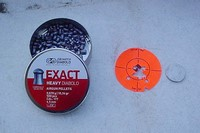 grouping at 30yds outta the box - shooting jsb 8.4g exacts at 30yds