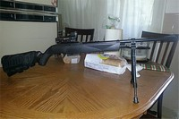 crosman 1077 - My crosman 1077 I call her Lil sister!  Outstanding rifle  I add a few items crosman man butt pouch to keep extra mag's clips co2 cartridge. A crosman red dot and a utg bipod. I like to thank the guys at pyramid air for there help! #1