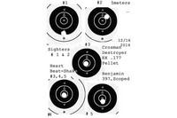 5 meter Target - Scoped Benjamin 397 from braced position