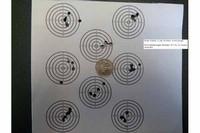 Ruger Explorer shot groups - Ruger Exploer 12 yds (off knee), 4 shot groups  RWS Meisterkugeln Standard .177 Cal, 8.2 Grains, Wadcutter