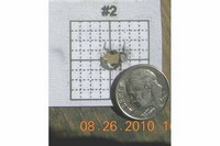 16 yards target size 1 inch 1/4 bull - shot out of a ben discovery at 16 yards 5 shots