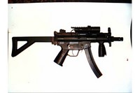 MP5 K-PDW - Added the claw mount dual rail with pressure switch light.  Side mounted.  Very nice gun.