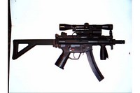 MP5 K-PDW - 4x scope and side mounted pressure light.