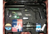 fully loaded case!! - I've got everything in this case I need for my son and I to go target shooting in the backyard. It fits my GAMO PT-85 SOCOM perfectly. I'm positively sure I can compact things even more to allow for a second pistol! It's a great case to store all your airgunning equipment!!