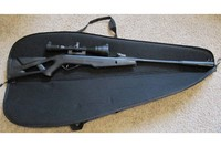 Plano green air rifle case - opened with gamo silent cat.