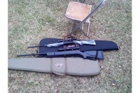 my two rifles - my daisy 840 c grizzly ,and my Gamo big cat 1200 with rifle sling