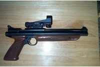 My Crosman1377  Old Model - 1377 OM with Daisy Max Speed Red Dot And Crosman Steel Receiver