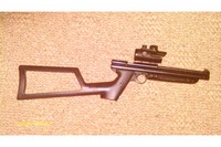 1377 on steroids - shoulder stock, steel breech, bsa red dot, painted forearm black to match.