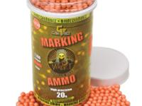 GameFace Game Face Verdict 6mm Biodegradable Marking Airsoft BBs, 0.20g, 2200 rds, Orange
