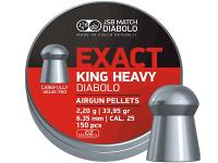 JSB Diabolo Exact King, .25 Cal, 33.95 Grains, Domed, 150ct
