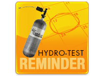 Hydro-Test Reminder - Scuba and Carbon Fiber Tanks