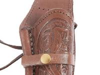 Hand-Tooled Leather Holster,, Image 3