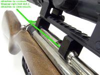 Intermount attaches to the receiver, and Pictatinny rail mounts on top of the 2-piece intermount. Your scope & rings attach to the rail. (Shown attached to a Sheridan Silver Streak.).