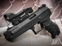 Image shows the wrong sights. The P17 comes with fiber optic sights.