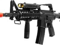 Well Mod16A4 spring action rifle w/ PEQ flashlight