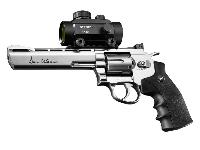 "Dan Wesson 6"" CO2 BB Revolver with optional 30MM dot sight"