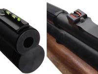 Front & rear fiber optic Williams sights. The rear sight is adjustable for windage & elevation.
