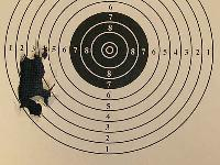 8-shot group @ 14 yards from a vise using 77.8-grain Eun Jin pellets