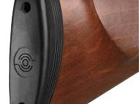 Rubber buttpad lets you stand the gun on end and helps reduce the felt recoil.