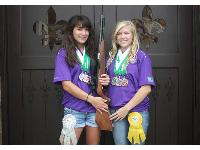 Morgan (L.) and Kristen Smith are Louisiana 4-H Shooting Sports Teen Ambassadors, and they promote shooting statewide (Kristen is also a National 4-H Shooting Sports Teen Ambassador).