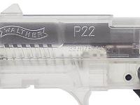 Walther P22 pistol with dispenser of 400 .12g BBs