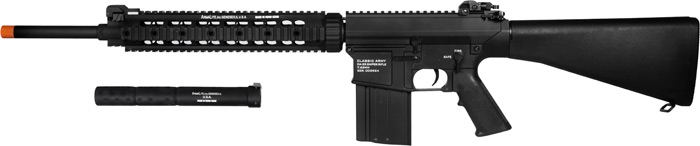 Airsoft Guns, Classic Army,CA25, Knights Armament Co SR25, M110 SASS,Airsoft automatic electric gun, Designated Marksman Rifle,DMR, AEG, CA25, KAC,pyramyd air, airsoft obsessed, knights armament co, eugene stoner,