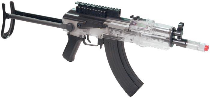 Crosman Pulse R76 Airsoft Assault Rifle  Clear  Airsoft Guns