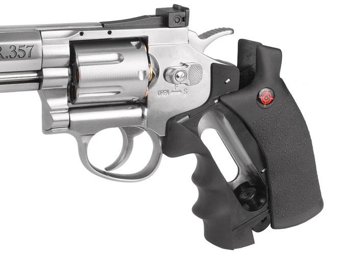 Details about Crosman SR 357 CO2 Revolver Silver - 0 177 cal 6rds  Single-/Double-Action Metal