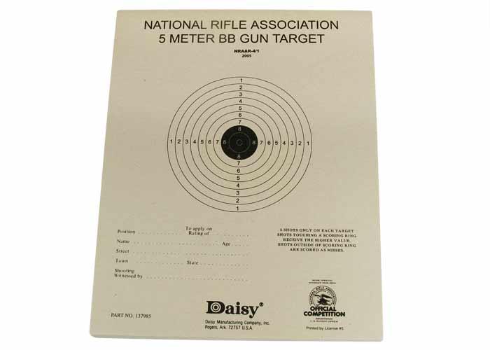 nra bb gun targets
