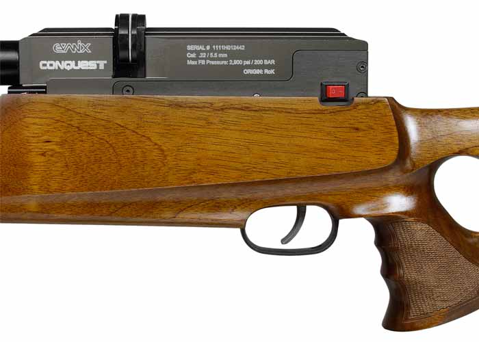 Evanix Conquest Semi Full Auto Pcp: Evanix Conquest PCP Air Rifle, Thumbhole Stock. Air Rifles