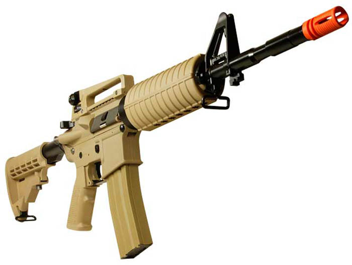 Airsoft Guns, G&G, Guay Guay,GR16 Desert Tan Carbine Blowback AEG,Airsoft automatic electric gun, Assault rifle,AEG, AR15,pyramyd air, airsoft obsessed, armalite,