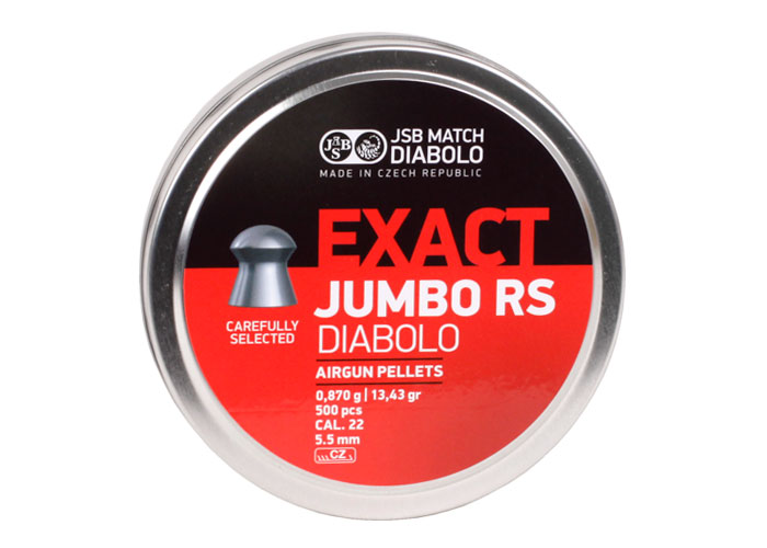 Jsb match diabolo exact jumbo rs 22 cal 13 43 grains domed 500ct