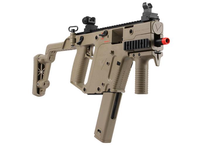 KWA KRISS Vector GBB Airsoft Submachine Gun, Tan. Airsoft guns