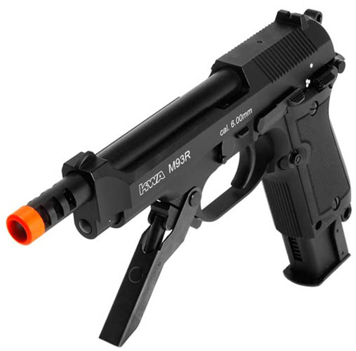 KWA M93R Airsoft Pistol With NS2 Gas System. Airsoft Guns