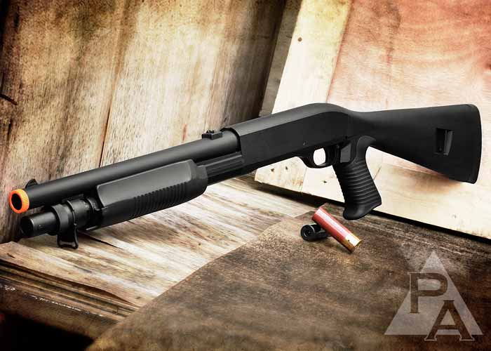Airsoft Multi-Shot Combat Tactical Shotgun 3 BBs Each Shot ...
