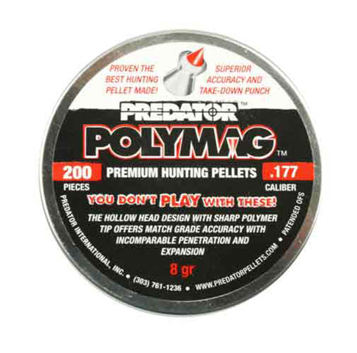Predator Polymag .177 Cal, 8.0 Grains, Pointed, 200ct