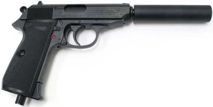 Walther PPK/S Kit with Fake Silencer. Air gun   Pyramyd Air