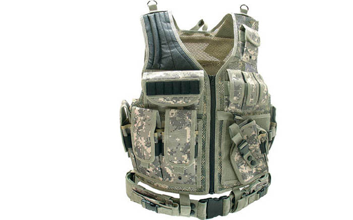 Airsoft Guns, UTG, Under the Gun,UTG Airsoft Deluxe Tactical Vest, Army Digital Camo Tac Vest, Tactical Vest, Tac Vest, Load-bearing Vest, Load bearing vest, LBE, Airsoft Gear, Airsoft Loadout,AEG, GBB, ACU, UTG Leapers,pyramyd air, airsoft obsessed
