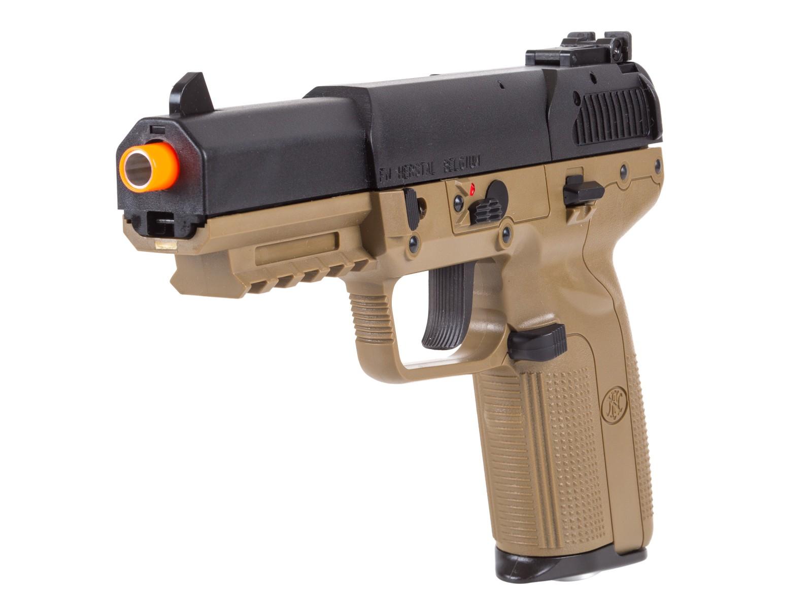 FN Herstal Five-Seven CO2 Blowback Airsoft Pistol, Tan ...