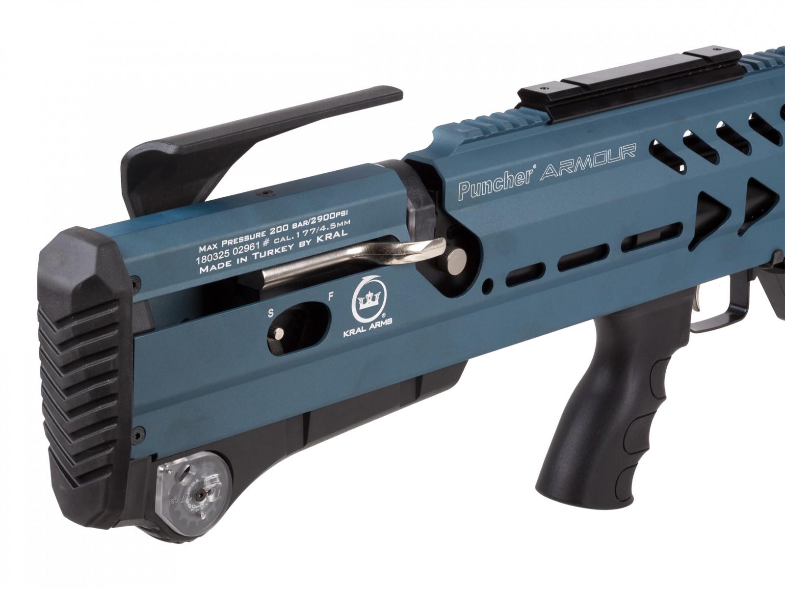 Kral Single Shot bac .22//.177 PCP Puncher-Breaker-Armour Magazine