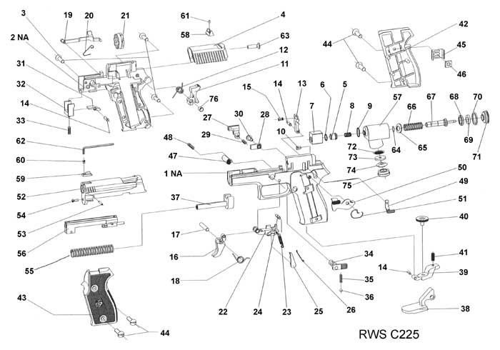 rws c225 pistol valve bushing   rws  u0026 umarex